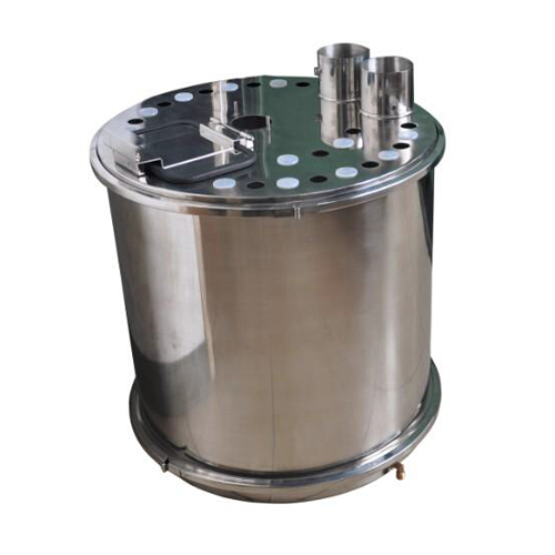 COLO-R01  Round Fluidizing Powder container